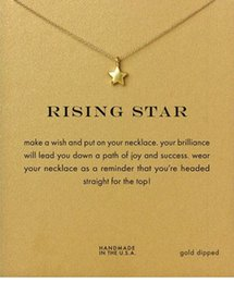 Wholesale Star Necklaces For Women - Rising Star Dogeared Necklace (Rising Star) Noble and Delicate Jewelry 18K Gold Charm Necklace Pendant Necklace Good Gift For Women Girls