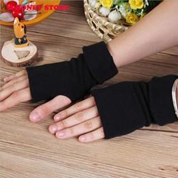 guanti di vestito di cuoio delle donne Sconti Guanti senza dita di inverno delle donne calde spesse di autunno di inverno stupefacenti Guanti neri Le donne dei guanti liberano il commercio all'ingrosso di trasporto