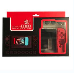 Wholesale Skin Cover Nintendo - DIY Colors 11 in 1 Anti-slip Soft Silicone Cover Case Skin for Nintendo Switch Joy-Con Controller