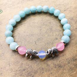 Wholesale Free Mala Beads - Elephant Healing Mala Bracelets Yoga Jewelry Wisdom Bracelet Meditation Beads Wrist Natural Stone Bracelet Free shipping