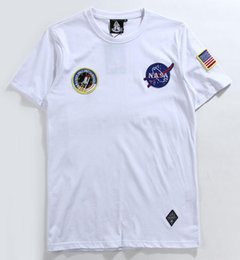 Wholesale Astronaut Shirt - Astronaut NASA t shirt men women tshirt hip hop t-shirt harajuku streetwear crewneck skateboard t-shirts palace tees