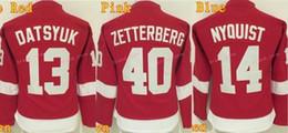 2019 детройтская хоккейная команда Детройт Red Wings женщины 13 Павел Дацюк Джерси хоккей леди 40 Хенрик Zetterberg женщина Джерси 14 Густав Nyquisi команда Цвет Красный скидка детройтская хоккейная команда