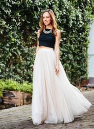 Wholesale Cheap High Quality Skirts - Tulle Long Skirts 3 Layers Tulle 1 Lining Fashion Fancy Long Women Skirts Cheap High Quality