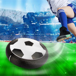 Wholesale light up football toy - Air Power Soccer Disc Suspended Football with EVA Bumpers LED Light up Hover Disk Gliding Ball Children Disc Toy for Indoor And Outdoor