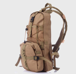 Wholesale Tactical Assault Backpack Hydration - Molle Tactical Assault Water Bag Backpack Nylon Camouflage Climbing Travel Cycling Hydration Pack 2.5L Water Bladder Camouflage Shoulder Bag
