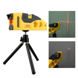 Wholesale Laser Line Marker - Laser Level Line Measurement Horizontal Vertical W  3 Bubbles 160 Degrees Range Measuring Marker With Adjustable Tripod