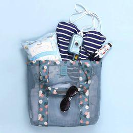Toptan ücretsiz kargo Yeni Örgü Soğutucu çanta piknik çantası plaj çantası / Açık Polyester Örgü Plaj Çantası cheap beach bags wholesale nereden plaj çantaları toptan satışı tedarikçiler