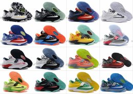 Wholesale Kd Prices Green - New Style Kevin Durant KD 7 Basketball Shoes For Men, Fashion Best Price Top Quality KD7 Athletic Sport Sneakers Eur 40-46 Free Shipping
