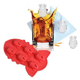Cubitos de hielo de enfriamiento online-Forma fresca de la bomba atómica Cubo de hielo Congelador del hielo Molde de hielo Bebida caliente del verano Bandeja de hielo para fiestas