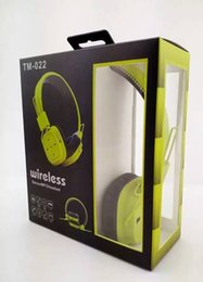Wholesale Wire Headband Color - TM-022 Bluetooth radio sport headphones plug tapes Sell like hot cakes Earphones Bluetooth headset FAST SHIPPING