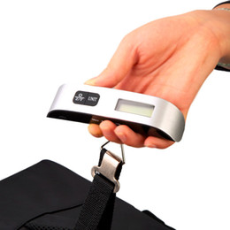 Wholesale Digital Scales Free Shipping - New Portable LCD Display Electronic Hanging Digital Luggage Weighting Scale 50 kg   110 lb Weight Scales Free shipping