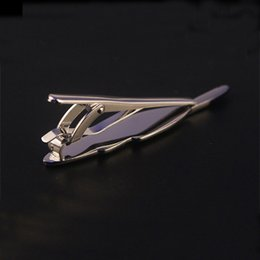 Wholesale Anchor Neck Ties - Mdiger Fashion Men's Neck Tie Clip Silver Plated Business Ties Claps Men's Fashion Metal Anchor Tie Clip in 4 Styles