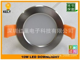 Wholesale Downlight Frame - 10W LED DOWNLIGHT kit Satin FRAME FREE SHIPPING cutout:70mm or 90mm with AUSTRIALIA plug saa dimmable