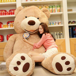 Wholesale Giant Stuffed Animals For Kids - Wholesale- 1 PC 100cm The Giant Teddy Bear Plush Toy Stuffed Animal High Quality Kids Toys Birthday Gift Valentine's Day Gifts for Girls