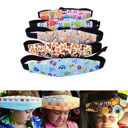 suporte de carro principal Desconto Moda Baby Car Seat Sleep Cinto ajustável Nap Aid Safety Head Support Band Holder Para viagens Kids Protector frete rápido grátis