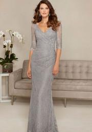 Nuevos apliques de encaje Sirena larga Madre de la novia Vestidos 2019 Longitud del piso Escote en v Vestidos de fiesta de noche formales para bodas desde fabricantes