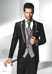 Wholesale Winter Wear China - China Handmade Groom Wear 2017 Handsome Men Dinner Party Suits Groom Tuxedos Groomsmen Man Prom Suits Custom Made (Jacket+Pants+Vest+Tie)