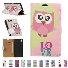 Wholesale Flip Paint - Painted Flip Cover Wallet PU Leather Case Kickstand With Card Slots Colorful Case For iphone x LG stylo Stylus 3 Samsung J5 A5 OPPBAG