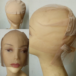 Wholesale Wholesale Lace Cap Wigs - grace free shipping lace wig cap for making wigs full lace wig cap with stretch in middle wig cap