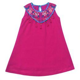 Wholesale Girl Spot Dress - Chiffon Skirt 2017 girls a new summer spot folk style embroidery children dress wholesale
