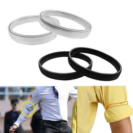 Wholesale Shirts Sleeve Holders - Wholesale- New 1Pc Shirt Sleeve Holders Arm Bands Elasticated Metal Armband For Men Women Arm Warmer