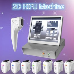 Wholesale oxygen therapies - 2018 hot selling 2D HIFU oxygen therapy machine Ultrasonic Facial Beauty Instrument body slimming face lifting wrinkle removal