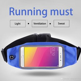 Wholesale Sports Cell Phone Covers - 5.5 inch Universal Cell Phone Waterproof Fanny Pack Outdoor Sports Waist Bum Bag Unisex Running Cycling Money Belt Pouch iPhone Cover Case