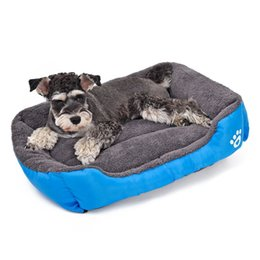 Wholesale Soft Pet Dog Nest Puppy - Pet Dog Bed Warming Dog House Soft Material Pet Nest Candy Colored Dog Fall and Winter Warm Nest Kennel For Cat Puppy 5 Colors