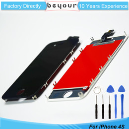 Wholesale Iphone 4s Assembly - LCD Touch Screen Glass Digitizer Assembly for iPhone 4S AAA Grade LCD Touch Panel Free Repair Tools