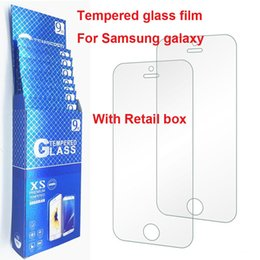 Wholesale Galaxy Screen Kit - Top 9H tempered glass film For samsung galaxy j5 S5 S6 S7 note 5 screen protector protective guard film front case cover+cleaning kit