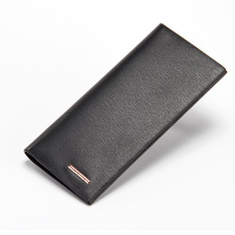 Wholesale Christmas Fund - Ultrathin Style Men Long Fund Wallet Leisure Time Black Brown Color 2 Fold Doka Position Student Youth Ticket Folder Card Holder
