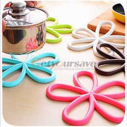 Wholesale Hot Pad Placemats - Wholesale- New plum-shaped anti-slip table mat heat pad insulated hot pot mat kitchen placemats insulation mats