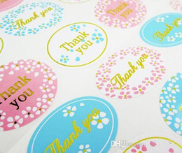 Wholesale Wedding Thank Stickers - Thank you wedding favors guest gifts seal sticker gift wrapping sealing labels packaging labels wedding party decorations 24pcs lot