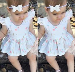 fiore amore bambino Sconti INS Girls Love Dress Abiti per bebè a forma di fiore Abiti stampati a fiori per principessa Vestiti per bambini vestiti A08