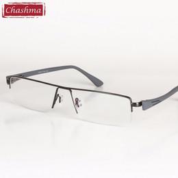 1c0988a517 Wholesale- Big Frame Titanium Alloy Eyeglass Half Rimmed Men Wide Face Glasses  Spectacle Frame Large Size Eye Flasses Frames for Men discount eyeglasses  ...