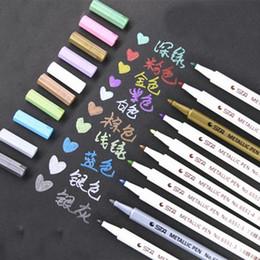 Wholesale Chalks Color - Wholesale-2017 10 pcs lot 10 color Water Chalk Pen Watercolor Pens for Scrapbooking Photo album Marker Gel Pen school Stationery 231