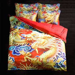 Wholesale Dragon Bedding Sets - Home Textile 3D Bedding Set Bedsheet Dragon Pattern Home Textiles Duvet Covers Bed Linen Pillow Cases Wholesale