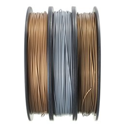 Wholesale Brand New Printers - Freeshipping 1pcs Brand New Metal PLA Blended 3D Filament 1.75mm 0.5kg for RepRap 3D Printer Materials Three colors Sliver Copper Gold