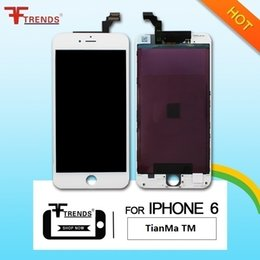 Wholesale Ear Display - Grade A+++ for iPhone 6 LCD Display & Touch Screen Digitizer Complete Assembly TianMa TM Black White Installed Camera Sensor Ring Ear Mesh