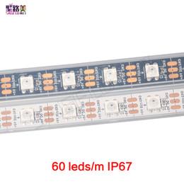 Wholesale Dream Rgb Led Strip Waterproof - 60leds m 2812B Pixel Digitale Dream Color Flexible LED Strip Light WS2812 pixel strip,white black pcb,waterproof or non waterproof IP67 IP20