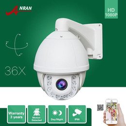 Wholesale Indoor Ptz Cameras - ANRAN Onvif HD Pan Tilt Zoom 1080P PTZ 36XZoom Array IR Outdoor IP66 Waterproof Outdoor Home Security CCTV IP Camera 4.6mm-165mm