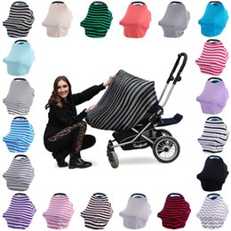 Wholesale Wholesale Car Canopy - Multi-Use Baby Car Seat Cover Canopy Nursing Breastfeeding Shopping Cart High Chair Cover INS Stroller Sleep By Cover