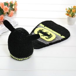 Wholesale Baby Shooting - aby photo props baby newborn photography set baby photography accessories baby cap Batman girl hat newborn photo shoot 0-3 M