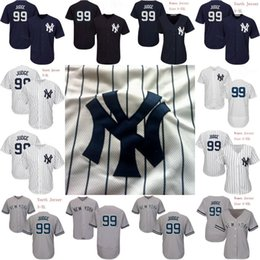 Wholesale Custom Jersey Embroidery - Mens Womens Youth 99 Aaron Judge Jersey 2017 New York Yankees Personalized Custom Baseball Jerseys Stitched Embroidery Logo