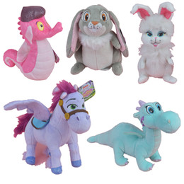 Wholesale Princess Plush - Princess Animals Crackle Sven Minimus Clover Ginger Stuffed Plush Toy, Movie Action Figures Kids Doll Gift Free Shipping