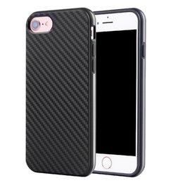 Wholesale Business Apple - For iPhone 7 7Plus 6 6s 6Plus 6sPlus 5s SE Business Style CellPhone Case Carbon Fiber TPU Back Cover for iPhone