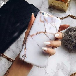 Wholesale Silicone Matte - Marble Chrome Cases for iphone x case Silicone Luxury Marble Matte Cover for iPhone X 8 7 Plus 6s 6 Plus TPU