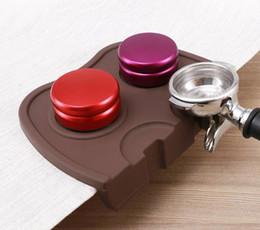 Wholesale Silicon Basket - Silicon Espresso Coffee tamper mat Espresso Portafilter Tamper Holder Silicone Pad Mat