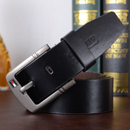 Wholesale Silver Needles - 2017 New hot PU leather mens belt black pin buckle belts for men designer famous belt luxury male strap