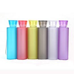 Wholesale Hips Plastic - Water Bottle Creative 400ML Paper Bottle Sport Flat Kettle Plastic Water Bottel Hip Flasks 100pcs OOA2270